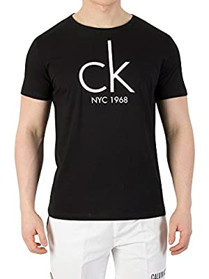 Calvin Klein Men's Relaxed Crew T-Shirt, Black