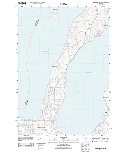(Michigan Maps   2011 Traverse City, MI USGS Historical Topographic Map   Cartography Wall Art   24in x 32in)