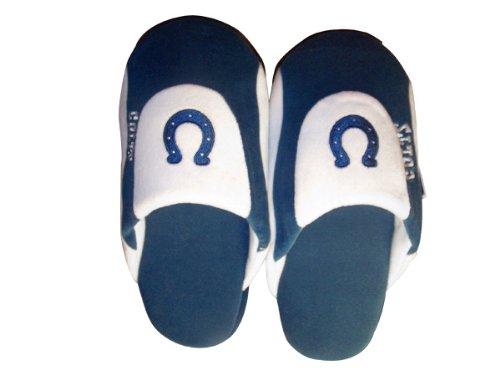 Happy Feet & Bekväma Fötter - Officiellt Licensierade Mens Och Womens Nfl Låg Pro Tofflor Marinblått Och Vitt