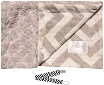 Amazon.com: Bebé lavandería 92224 gris Chevron Minky Cuddle ...