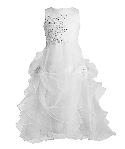 girl white formal dress - 9