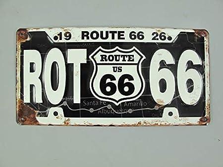Linoows G3853: Nostalgia Cartel de Pared Ruta 66 1926 Negro ...