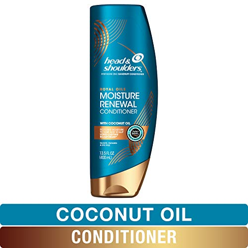 Head and Shoulders Conditioner, Anti Dandruff Treatment, Royal Oils Collection with Coconut Oil, for Natural and Curly Hair, 13.5 fl oz