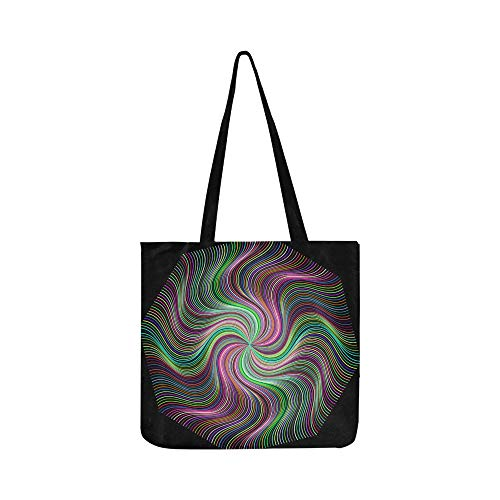- Pinwheel Vortex Maelstrom Whirlpool Cyclone Flower Canvas Tote Handbag Shoulder Bag Crossbody Bags Purses For Men And Women Shopping Tote
