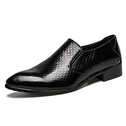 de de de Hombre Formal Moda Cuero Negro la de Zapato Microfibra Vestir la Oxford del para qftnTAxAd