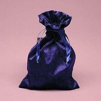 Amazon.com: Runa bolsas: Azul real Bolsa de terciopelo 4