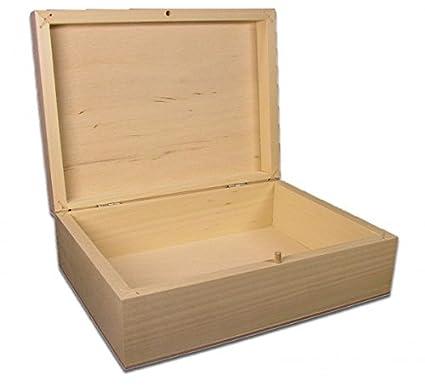 rechteckige Holzbox Linde unbeh. Holz-Kassette Aufbewahrungsbox mittelgroße