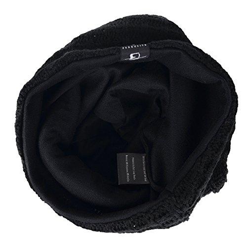 0ceebe085bc FORBUSITE Stylish Knit Slouchy Beanie Baggy Hat Long Skull Cap for Men  Women (Black)