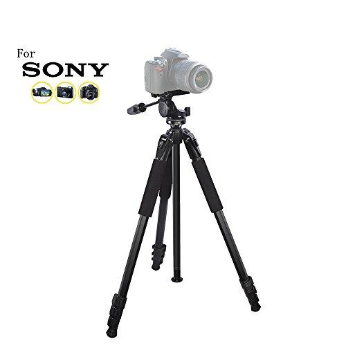 80 inch Heavy Duty Portable tripod for Sony Cyber-shot DSC-RX100 II, DSC-RX1R, DSC-RX1R II, DSC-S75, DSC-S85, DSC-V1, DSC-V3 Professional Digital Cameras: Travel tripod by iSnapPhoto