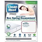 Clean Rest Pro Bed Bug & Allergen Blocking Box Spring Encasement Featuring Zip-N-Click(King)