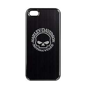Niube Harley Davidson Aluminum Shell Hybrid Case for iPhone 5 5s Willie G Logo Black Silver hjbrhga1544