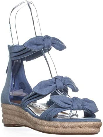 Nine West Allegro Bow Espadrilles Sandals, Light Blue Denim
