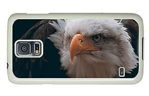 Hipster best Samsung Galaxy S5 Case bald eagle bird PC White for Samsung S5