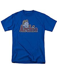 Archie Comics/Distressed Archie Logo Mens Short Sleeve Shirt