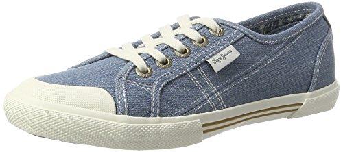 Pepe Jeans London Abernew Denim S17, Zapatillas para Mujer Azul (AZZURRO)