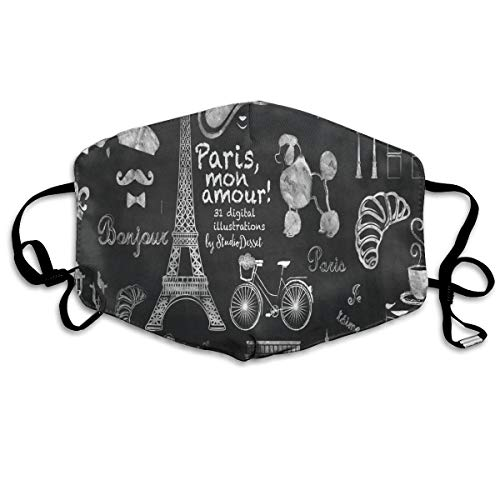 FunnyCustom Anti Dust Mask Painting Paris Eiffel Tower Surgical Mask Winter Healthy Windproof for Girls Halloween]()