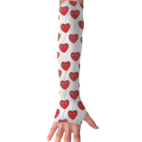 Cherry Love Eye Arm Sleeves UV Protection For Men Women Youth Arm Warmers For Cycling Golf Baseball Basketball Cucumbers Eye Love Cucumbers