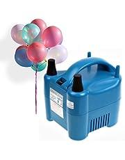 Amzdeal Inflador de globos electrico 680W para inflar globos hinchador electrico bomba para fiestas Alta potencia Color azul