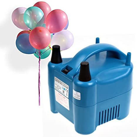 Amzdeal Inflador de globos electrico 680W para inflar globos hinchador electrico bomba para fiestas Alta potencia Color azul [Clase de eficiencia energética A++]