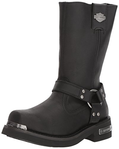 Harley-Davidson Men's Landon Motorcycle Boot, Black, 9.5 Medium US (Riding Harley Davidson)