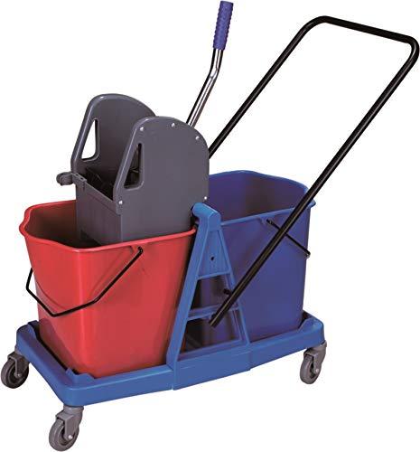 Carro de limpieza con doble cubo de 25 litros y prensa. Carro de fregado profesional con ruedas y doble cubo: Amazon.es: Industria, empresas y ciencia