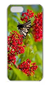 cases brand new Butterfly Fruits PC Transparent Case for iphone 5/5S