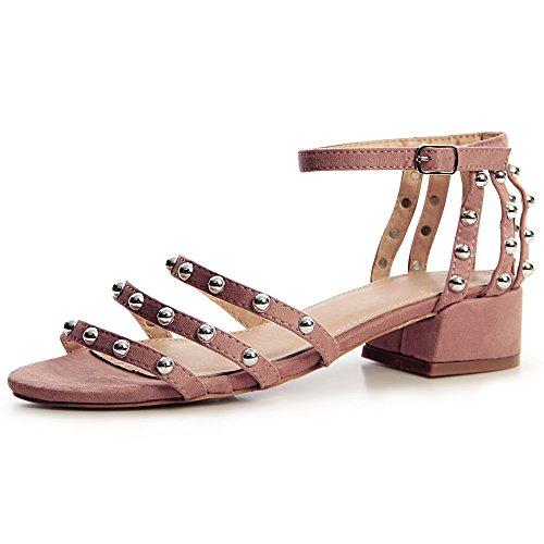 Sandales Vieux Femmes Topschuhe24 Rose Sandalettes RxpZqwA