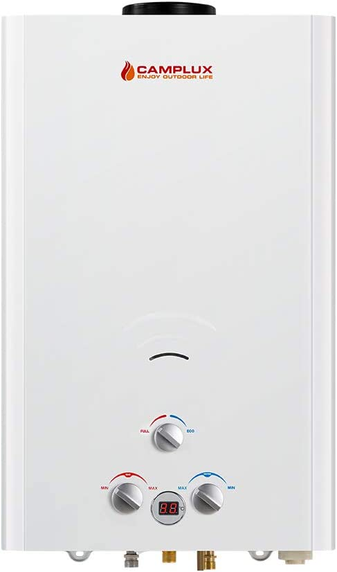 Camplux BW422 16L Tankless Propane Gas Hot Water Heater Portable Instant Camping Gas Shower Outdoor