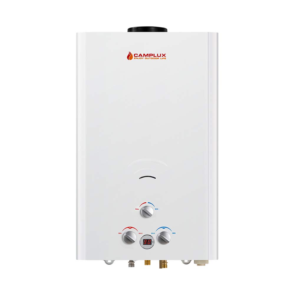 Camplux BW422 16L Tankless Propane Gas Hot Water Heater Portable Instant Camping Gas Shower Outdoor [Energy Class A]