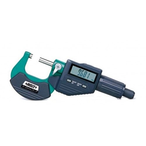 Insize 3109-25S Digital Outside Micrometer, 0.001 mm/0.00005″ Resolution Price & Reviews
