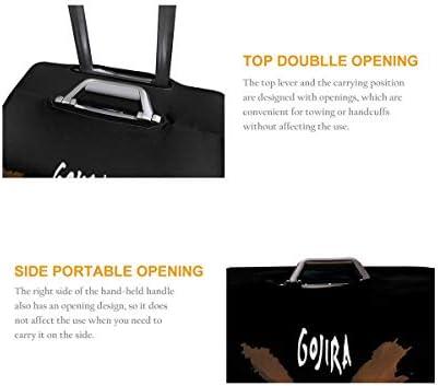スーツケースカバー キャリーカバー ゴジラ Gojira ラゲッジカバー トランクカバー 伸縮素材 かわいい 洗える トラベルダストカバー 荷物カバー 保護カバー 旅行 おしゃれ S M L XL 傷防止 防塵カバー 1枚