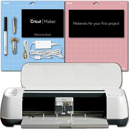 Cricut Maker Champagne Machine Bundle Smooth Heat Transfer Perm. Vinyl Tools Designs Guide