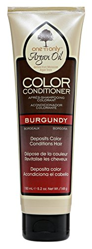 One N Only Argan Oil Condition Color Burgundy 5.2 Ounce (150ml) (Argan Oil Hair Color Medium Chocolate Brown)