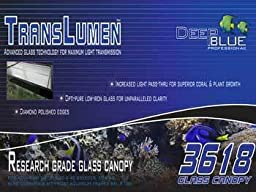 Deep Blue Professional ADB39618 Translumen Glass Canopy, 36 by 18-Inch