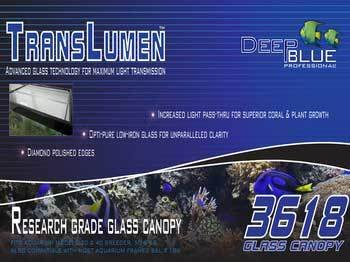 Deep Blue Professional ADB39618 Translumen Glass Canopy, 36 by 18-Inch by Deep Blue Professional