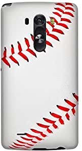 Stylizedd LG G3 Premium Slim Snap case cover Matte Finish - Baseball