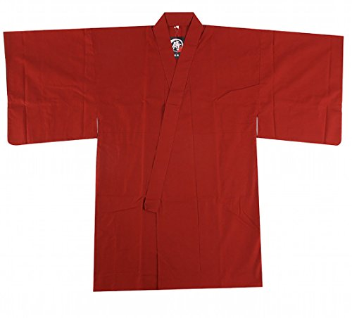 Edoten Japanese Samurai Hakama Uniform Shirt Tops RED XL