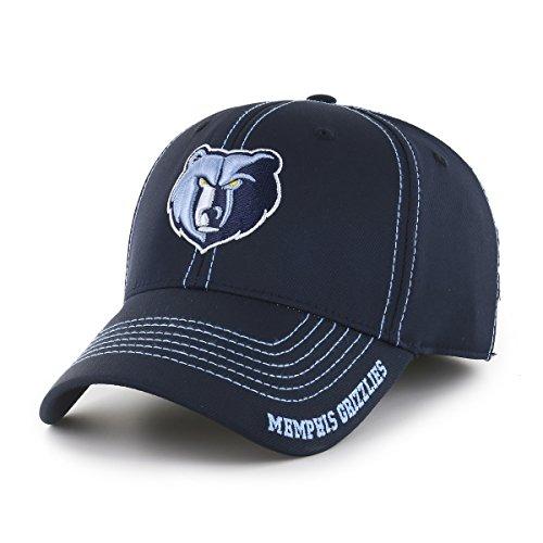 OTS NBA Memphis Grizzlies Adult Start Line Center Stretch Fit Hat, Large/X-Large, (Grizzlies Hat Cap)