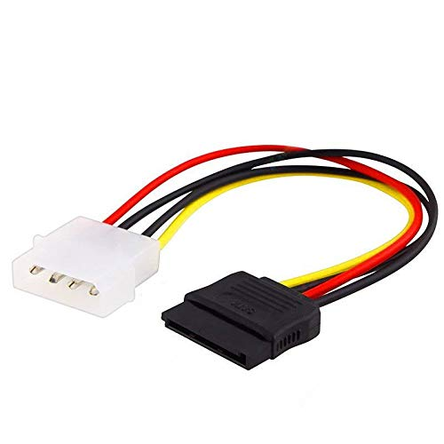 SODIAL IDE/Molex/IP4/4-pin to SATA Power 15-pin Connector Converter Adapter Cable