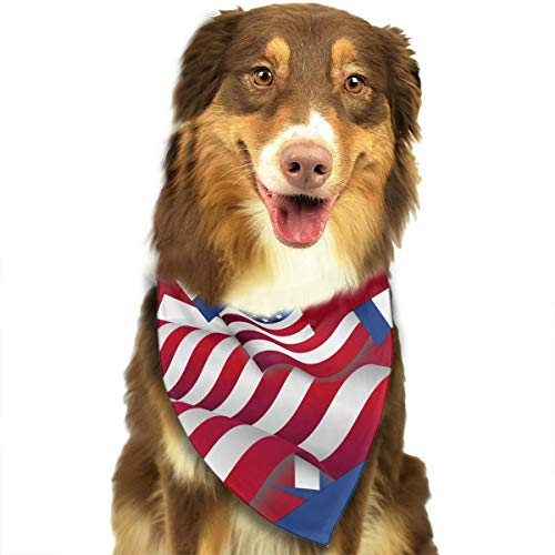 JWKSY Dog Bandana Scarf Netherlands Flag with America Flag Triangle Bibs Printing Kerchief Set Accessories Dogs Cats Pets