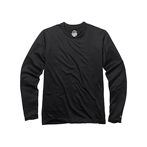 Duofold by Champion Varitherm Mid-Weight 2-Layer Kids' Thermal Shirt, Black, L