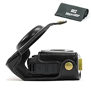 """MegaGear """"Ever Ready"""" Protective Leather Camera Case, Bag for Canon PowerShot G15 (Black)"""