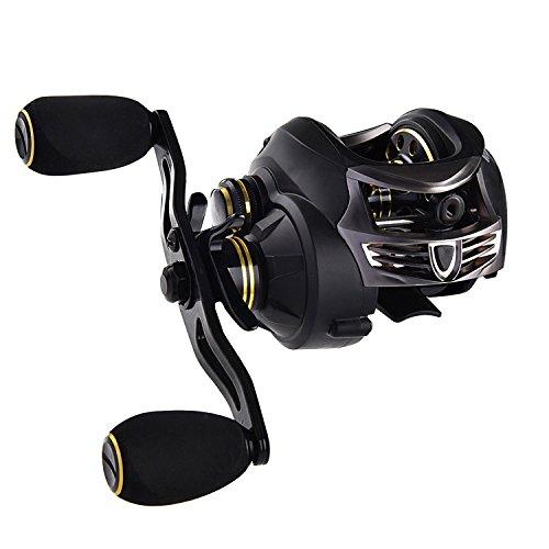 KastKing Stealth Baitcasting Reel - All Carbon Baitcaster Fishing Reel - 6oz Super Light Weight - 16.5 Lb Carbon Fiber Drag, 11 + 1 BB, Dual Brakes