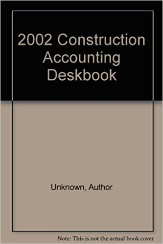Book 2002 Construction Accounting Deskbook