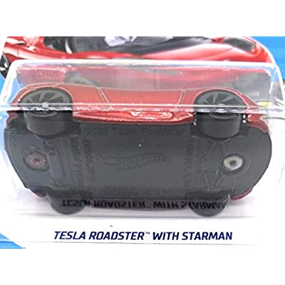 Hot Wheels 2020 HW Space Tesla Roadster with Starman Figure 109/250, Maroon: Toys & Games