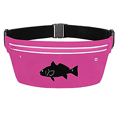 Fanny Pack Black Fish Waist Bag Stealth Running Bum Bags Travel Pocket 85%OFF