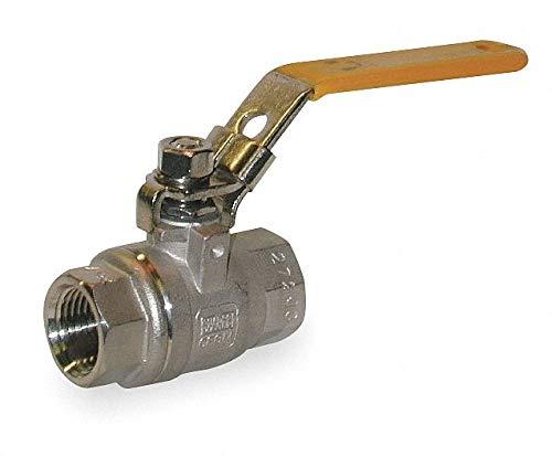 - 316 Stainless Steel FNPT x FNPT Ball Valve, Locking Lever, 3/8