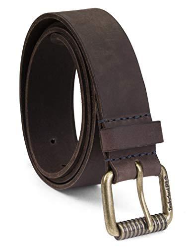 Timberland PRO Men's 38mm Boot Leather Belt, Medium Brown (Roller buckley), 34