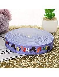 Shoppy Star Wide 2.5CM Durable Pants Skirt Belt/car Decoration Color Printing Rubber Band/Elastic Band: 6, 25mm, 1M