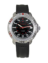 Vostok Komandirskie 811172 / 2414a Military Special Forces Russian Watch Black